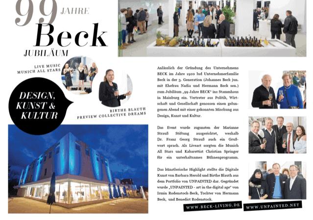 UNPAINTED Künstlerinnen bei 99 Jahre Beck Living in Mainburg