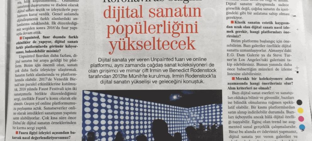 UNPAINTED erscheint in türkischer Tageszeitung Hürriyet